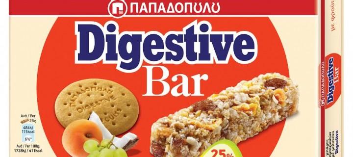 Δύο νέες γεύσεις Digestive Bar ΠΑΠΑΔΟΠΟΥΛΟΥ με Μέλι & με Φρούτα